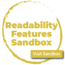 Visit the Readability Features Sandbox