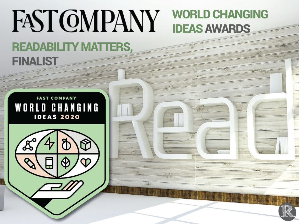 Fast Company World Chaning Ideas Awards, Readability-Matters-World-Changing-Ideas-Finalist